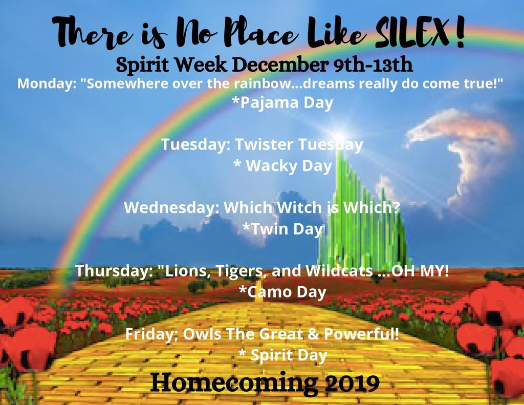 Don't forget Monday Kicks Off Homecoming Week