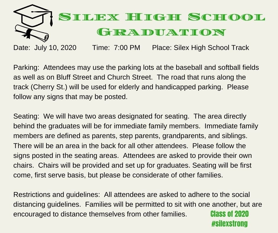 Silex High School Graduation information.