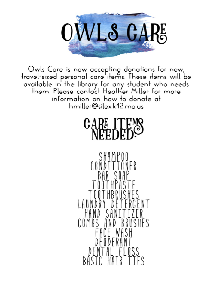 Owls Care donation information.