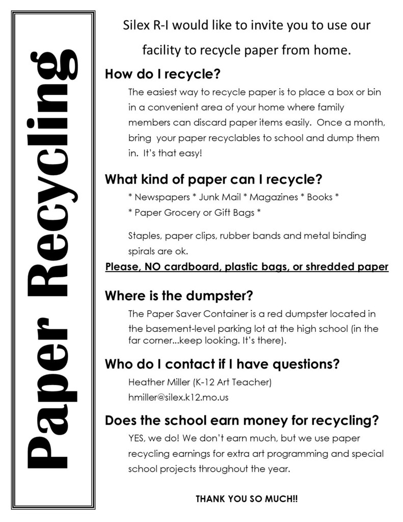 Recycling info