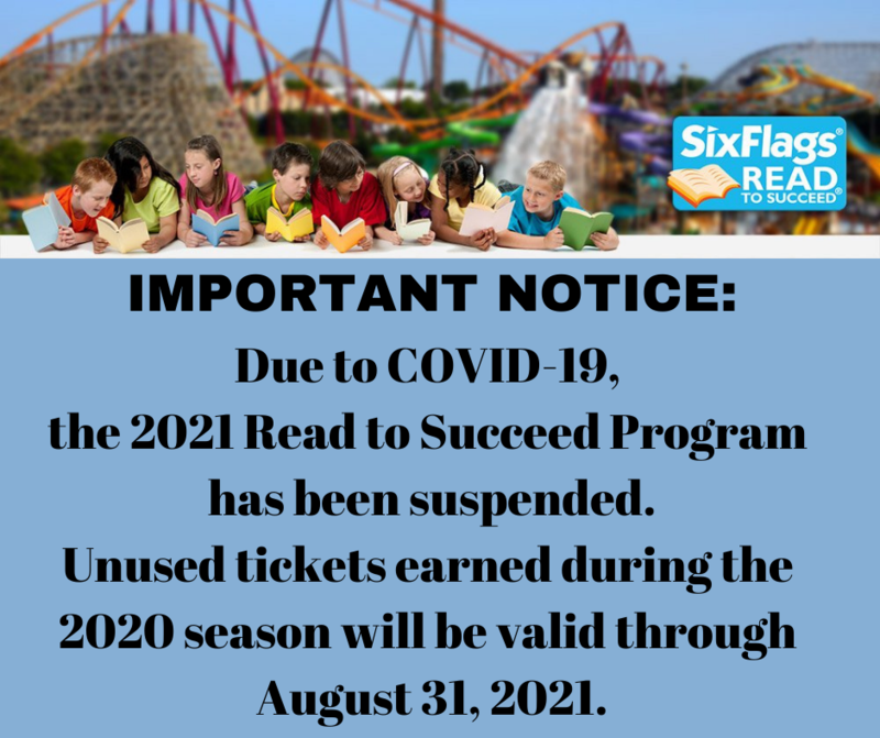 Six Flags Read to Succeed 2020/2021