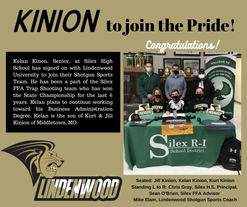 Kinion signs with Lindenwood Shotgun Sports Team