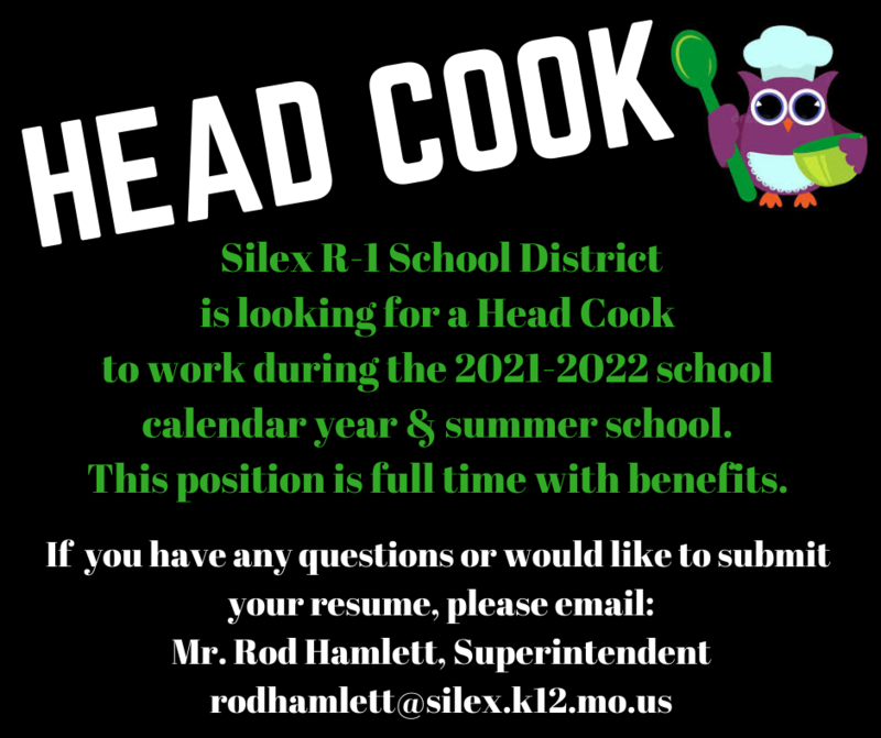 Head Cook Wanted